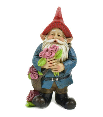 Valentine's Day Littles Polyresin Gnome with Roses