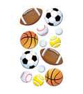 EK Success Puffy Dimensional Stickers-Sport Balls