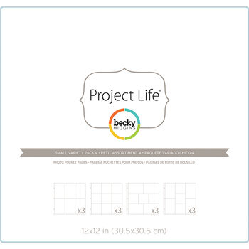 Project Life Page Protectors 12/Pkg-Small Variety Pack 4