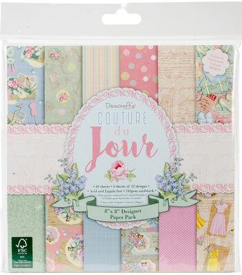 """Dovecraft Paper Pack 8""""X8""""-Couture du Jour"""