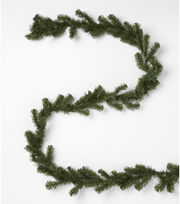 Blooming Holiday Christmas 9' PVC Canadian Pine Garland-Aqua, , hi-res