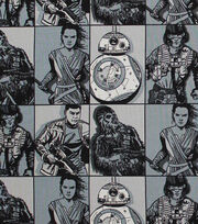 "Star Wars™: The Force Awakens Cotton Fabric 44""-Hero Squares, , hi-res"