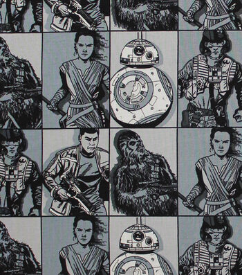 "Star Wars™: The Force Awakens Cotton Fabric 44""-Hero Squares"