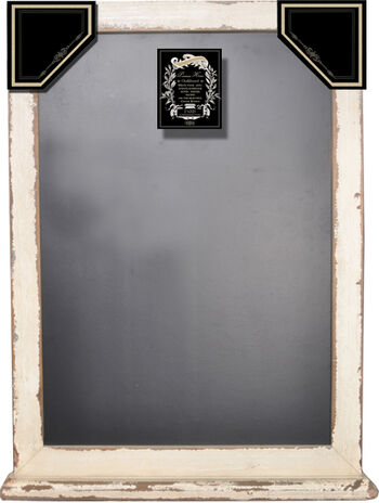 Distressed White Chalkboard With Ledge