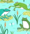 Anti-Pill Fleece Fabric 58\u0022-Dotted Froggies