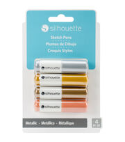 Silhouette of America® 4 Pack Sketch Pens-Metallic, , hi-res