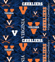 "University of Virginia Cavaliers Fleece Fabric 60""-Digital Camo, , hi-res"