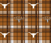 "University of Texas Longhorns Fleece Fabric 60""-Plaid, , hi-res"