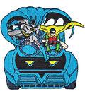 DC Comics Patch-Batman & Robin in Batmobile 3.75\u0027\u0027x3.75\u0027\u0027