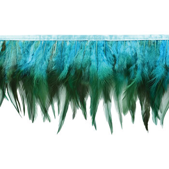 Fionna Feather Fringe Trim in Turquoise