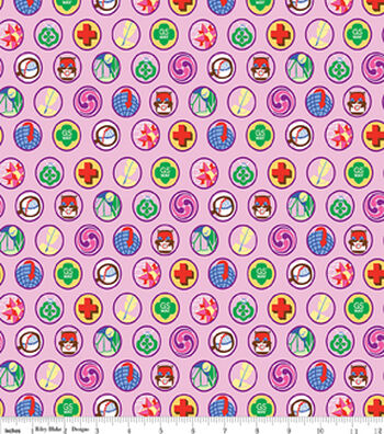 "Girl Scout Flannel Fabric 43""-Junior Badges"