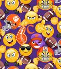 Clemson University Tigers Cotton Fabric 43\u0027\u0027-Emoji