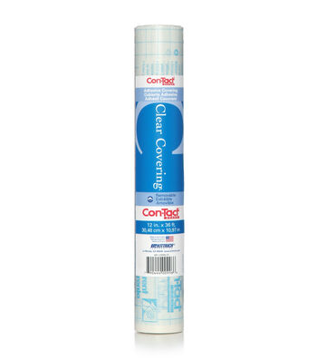 12in x 36ft Contact Clear Adhesive Liner