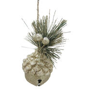 Maker's Holiday Christmas Glistening Pines Jingle Bell Acorn Ornament, , hi-res
