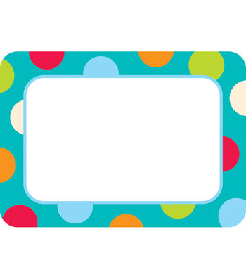 Dots-On-Turquoise Collection: Name Tags