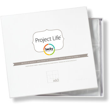 American Crafts Project Life Photo Pocket Pages Design A 60 Per Pack