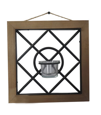 Summer Sol Geometric Wall Candle Holder B