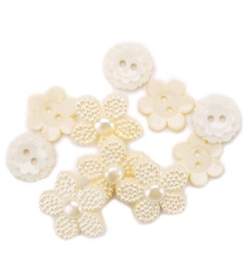 Favorite Findings Buttons-Lace Inspirations 15/pkg