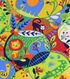 Nursery Cotton Fabric 43\u0022-Bright Jungle Dot Animal