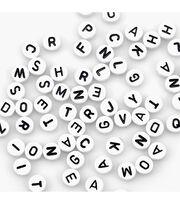 Alphabet Beads 7mm 150/Pkg-White Round, , hi-res