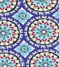 Koko Lee™ Cotton Fabric 43\u0022-Large Abstract Floral Medallions