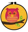 Learn-A-Craft Little Owl Felt Applique Kit-6\u0022 Round