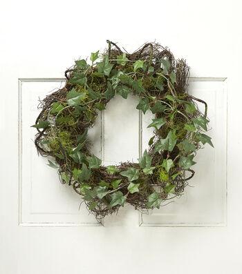 Bloom Room Moss Grass Ivy Wreath-Green