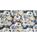 Two Daughters Fabric -  Gray Floral Large
