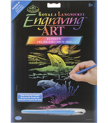 Royal Langnickel Rainbow Foil Dolphin Reef Engraving Art Kit