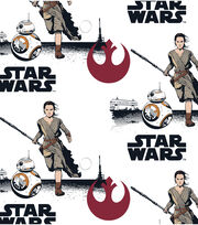 "Star Wars™: The Force Awakens Flannel Fabric 42""-Rey & BB8, , hi-res"