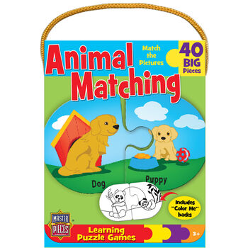 Mini Learning Games 40 Pieces-Animal Matching