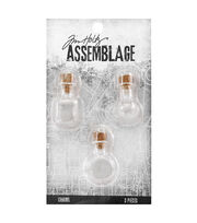 Tim Holtz® Assemblage Pack of 3 Glass Vials Charms, , hi-res