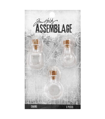 Tim Holtz® Assemblage Pack of 3 Glass Vials Charms
