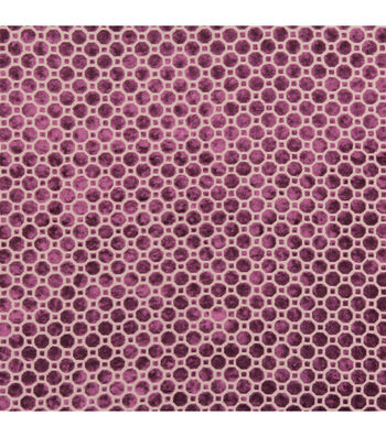 "Home Decor 8""x8"" Fabric Swatch-Velvet Geo / Magenta"