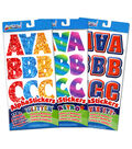 Alpha Stickers Letters & Numbers 170/Pkg-Assorted Retro, Glitter & Varsity