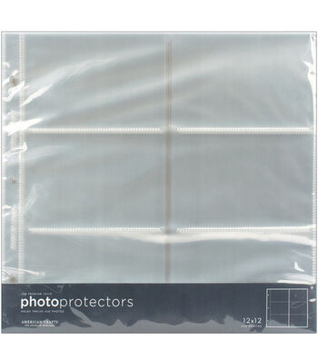 "American Crafts 12""x12"" Photo Protector Pockets-10PK"
