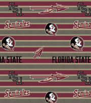 "Florida State University Seminoles Fleece Fabric 58""-Polo Stripe, , hi-res"