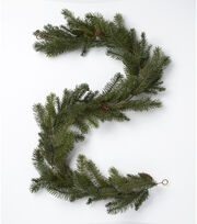Blooming Holiday Christmas 72'' Pine Needle & Pinecones Garland-Green, , hi-res