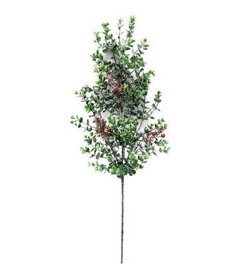 Blooming Holiday 27'' Eucalyptus, English Boxwood & Berry Spray