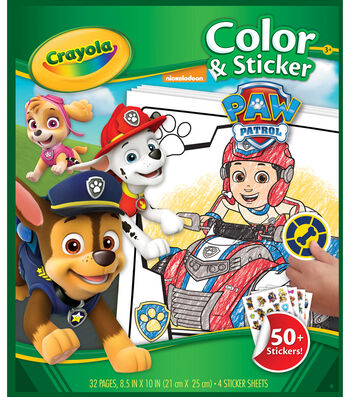 "Crayola Color 'n Sticker Book 10""X8.5""-Paw Patrol"