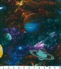 Novelty Cotton Fabric 44\u0027\u0027-Large Planets