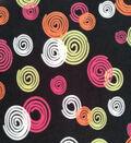 Micro Fleece Fabric 59\u0022-Neon Swirls