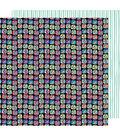 American Crafts Sunshine & Good Times 12\u0027\u0027x12\u0027\u0027 Cardstock-Click Click