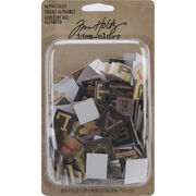 "Idea-Ology Alpha Tiles Chipboard Letters .6875"" 255/Pkg-, , hi-res"