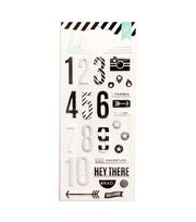 Heidi Swapp 27 Pack Puffy Number Stickers-Black & White, , hi-res