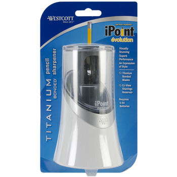 iPoint Evolution Titanium Bonded Pencil Sharpener-Assorted Colors