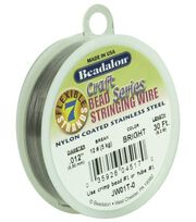 "Westrim Craft Series .012"" 7-Strand Stringing Wire-30ft/Silver, , hi-res"