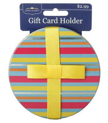 Striped Round Gift Card Holder
