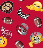 """Ohio State University Buckeyes Fleece Fabric 60""""-Emoji, , hi-res"""