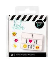 Heidi Swapp Lightbox Inserts 20/Pkg-Emoji Icons, , hi-res